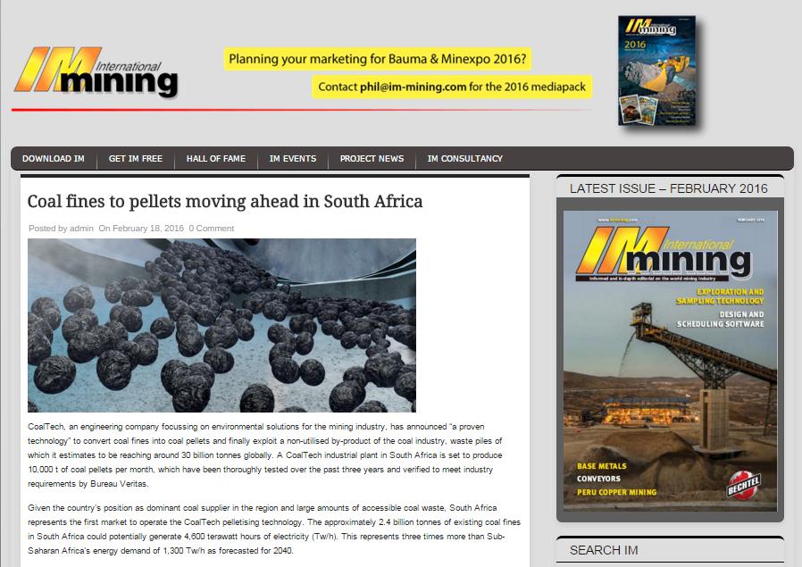 mining coal waste fines